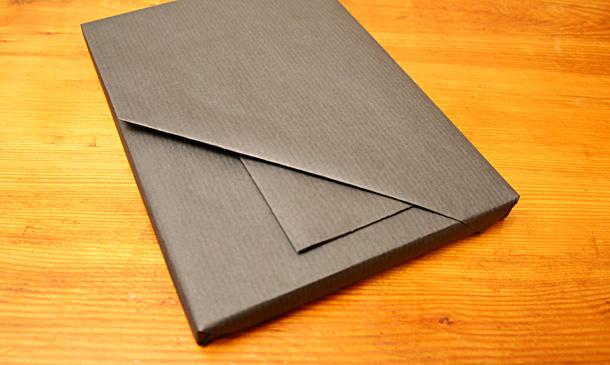 paquet cadeau en papier kraft