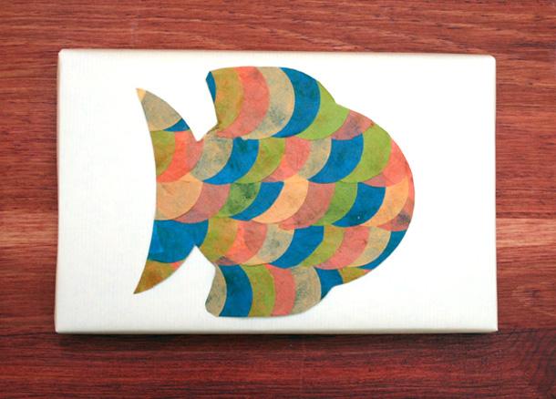 paquet cadeau papier népalais