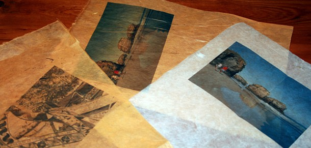 Impression sur papier népalais