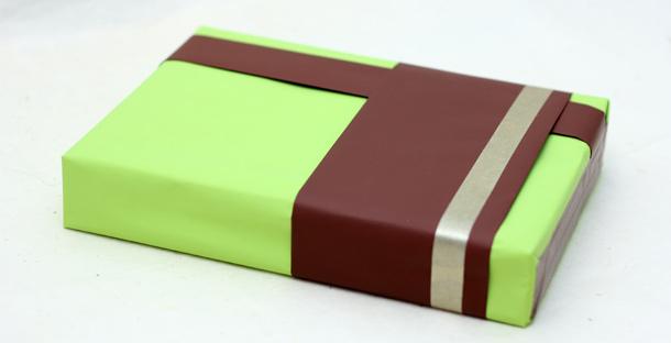 Papier cadeau chocolat et anis
