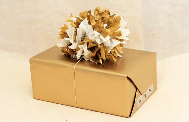 Paquet cadeau de fêtes