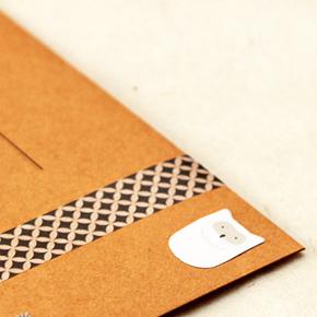 Enveloppe kraft et masking tape :)