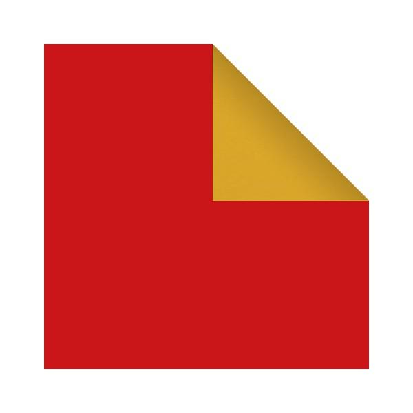 Papier cadeau rouge et or