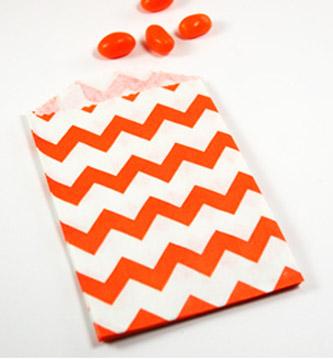 sachet-papier-chevron-orange
