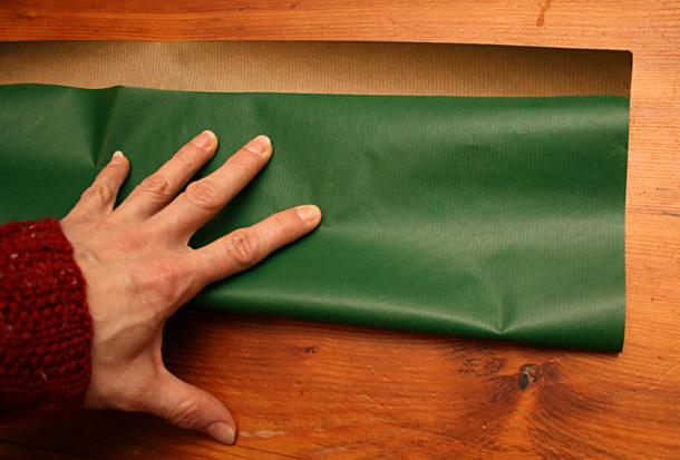 Bande de papier kraft vert