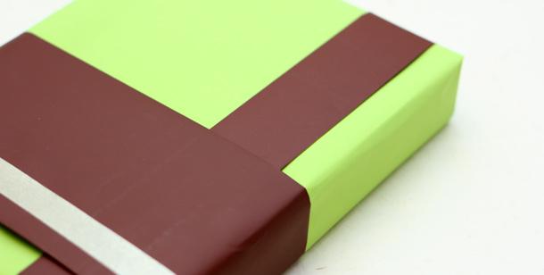 Papier cadeau chocolat-pistache