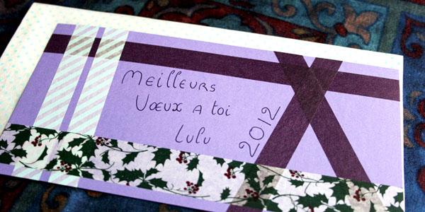 Du masking tape pour des cartes de voeux jolies & rapides