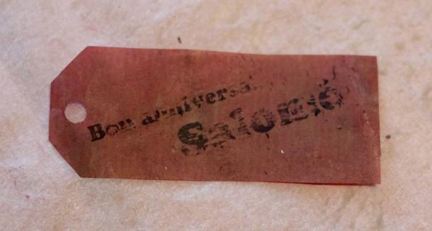 Étiquette en papier paraffiné