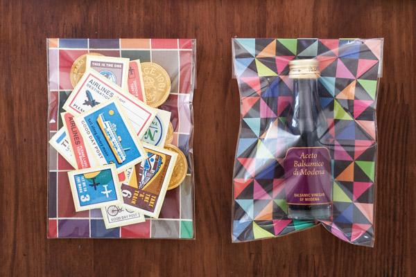 Papier origami - paquet cadeau