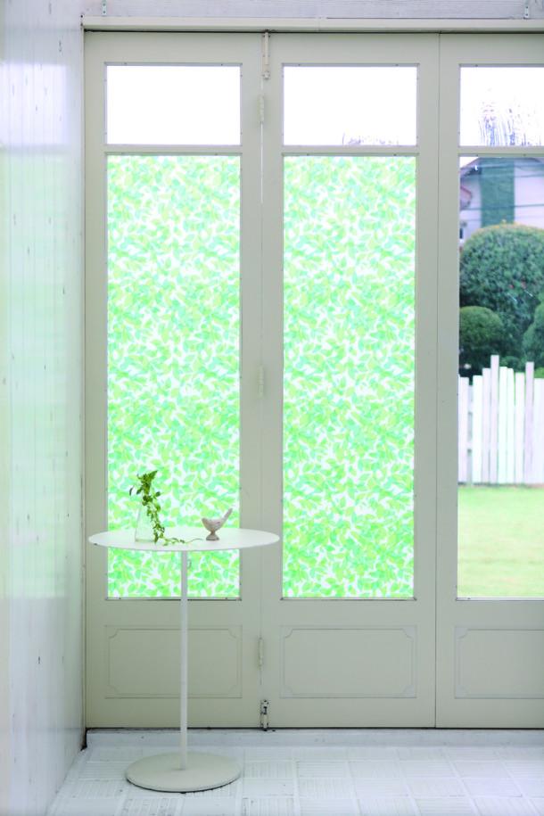Exemple de porte d'entrée vitrée