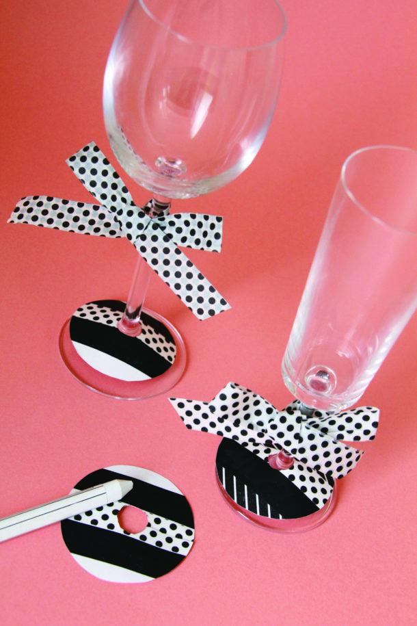 verres de mariage décorés