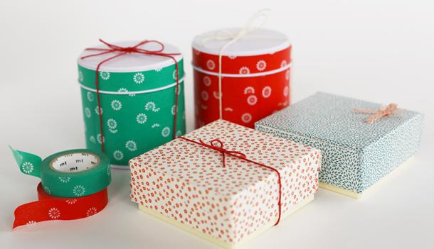 emballage cadeaux en masking tape